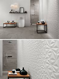3d wall tile bathroom. Unique Tile Bathroom Tile Ideas  Install 3D Tiles To Add Texture Your   The Geometric Shapes In These Wall Tiles Create A Modern And Energizing Feel  On 3d Wall S