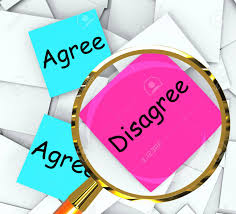 Agree Disagree Sticky Note Papers Meaning Opinion And Point Of