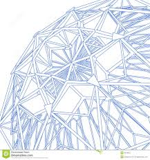 Architectural Structure Blueprint Stock Illustration Illustration