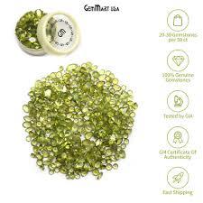 Peridot Loose Gemstones Mixed <b>Faceted</b> Cut <b>Natural Stones</b> DIY ...