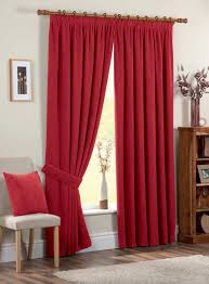 Drop Dead Gorgeous Accessories For Window Treatment Decoration Using Modern  Red Curtain : Cute Picture Of