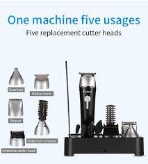 Kemei KM-1015 Tông đơ cắt tóc 5 trong 1 Máy cạo râu điện đa năng Máy cạo râu  mũi Dụng cụ tạo kiểu tóc