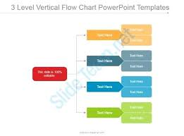 Ppt Flow Chart Template 3 Level Vertical Flow Chart Templates Process Ppt Template