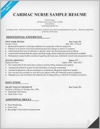Best Resume Format For Nurses Adorable Cardiac Nurse Resume Example Sample Free Download