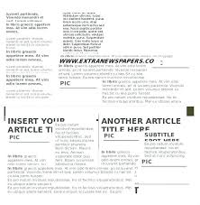 Microsoft Word Newspaper Template Free Download Bgcwc Co