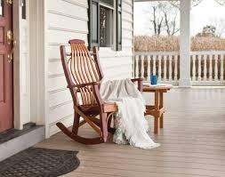 poly lumber porch rocker pertaining to porch rocking chair plan architecture c coast indooroutdoor mission slat rocking chair white