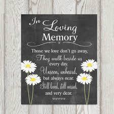 In Loving Memory Quotes Best Memorial Table In Loving Memory Printable From DorindaArt On Etsy