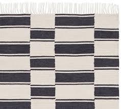 the emily meritt ticking stripe indoor outdoor rug swatch