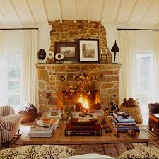 living room with stone fireplace. rustic stone fireplace living room with