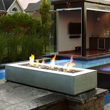 Captivating Gas Fire Pit With Rectangle Shape Design Also Natural