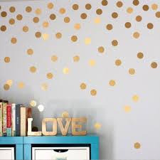 diy gold dots wall stickers decals kids children room home decoration vinyl wall art stickers on home decorating stick on wall art with diy gold dots wall stickers decals kids children room home
