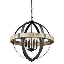 cheap chandelier lighting. Castello Black And Aspen Wood Six-Light 26.5-Inch Wide Chandelier Cheap Lighting