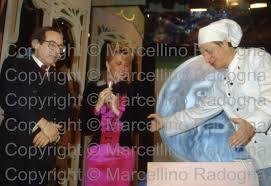Marcellino Radogna - Fotonotizie per la stampa: Oreste Lionello con  Ombretta Fumagalli Carulli e Pippo Franco