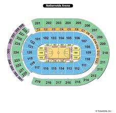 Blue Jackets Arena Seating Chart Nationwide Arena Columbus Oh Seating Chart View