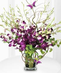Purple Orchid Majesty Mother's Day Bouquet - Floral Arrangements - French  Florist - Los Angeles - California - 90035