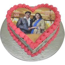 Fresh Photo Anniversary Cake Free Shipping In 3 Hrs