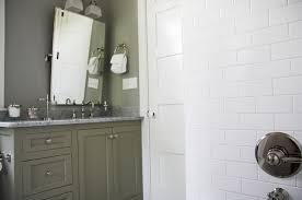 green bathroom cabinets