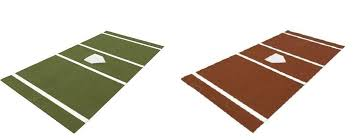 Size Of Home Plate Baseball Home Plate Mat Turf Batting Cage Mats Green Or Clay