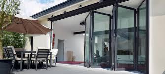 aluminium folding patio doors reynaers at home