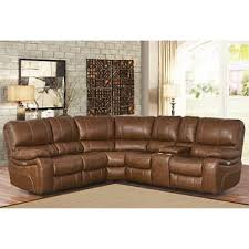 Braymor 3piece Top Grain Leather Power Reclining Sectional Tan Leather Sectional N88