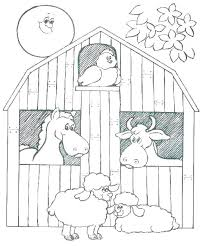 Free Farm Colouring Pictures Farm Animal Coloring Page Farm Animals