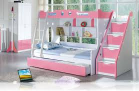 bunk beds for girls with stairs. Brilliant Beds Girlsu0027 Bunk Beds With Stairs On For Girls O