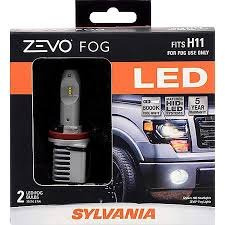 Sylvania H11 Zevo Fog Led Premium Quality Plug And Play Led Fog Lights Bright White Light Output Matches Hid Led Headlight Lighting Systems