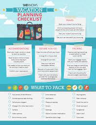 Vacation Planner Online Vacation Planning Checklist Sheknows