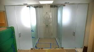 frosted shower doors glass door uk