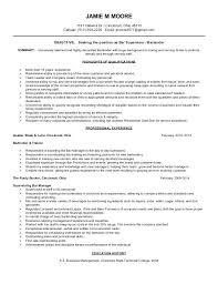 Resume Objective For Bartender Bartender Resume Example Bartender