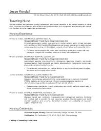 Examples Of Nurse Resumes Resume Examples Nursing Resume For