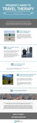 best images about travel therapist tips health infographic frequently asked questions about travel therapy cariant health partners travel pt