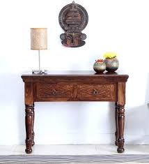 painted console table. Vayaka Solid Wood Console Table In Provincial Teak Finish By Mudramark Painted