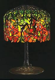 glass flower lamp i illuminating lamps i studios leaded stained glass shade cast bronze base table lamp glass vase lamp kit