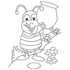 The bee top 17 free printable bug coloring pages online on love bug printable