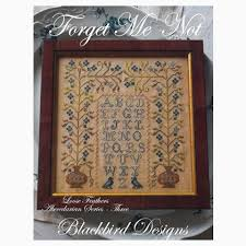 Blackbird Designs Cross Stitch Charts Loose Feathers Forget Me Not
