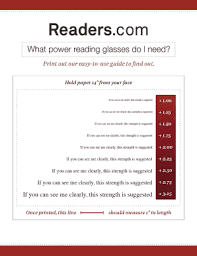 Fillable Online Diopter Chart Readers Com Fax Email Print