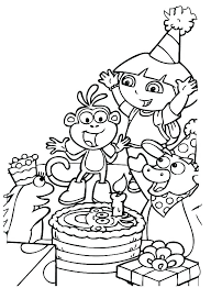 Dora The Explorer Coloring Pages Coloring The Explorer Coloring Page