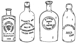 the antique bottles of iowa 1846 1915 by mike burggraaf and tom southard