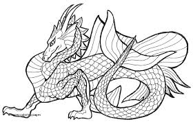Chinese Water Dragon Coloring Pages Detailed For Adults Baby Dragons