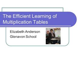 The Efficient Learning of Multiplication Tables - ppt download