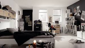 Music Decorations For Bedroom White And Black Punk Rock Music Themed Teen Bedroom Idea With