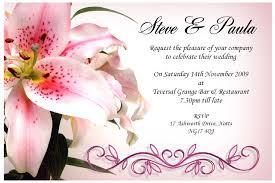 doc samples of wedding invitation cards wedding invitation card sample iidaemiliacom samples of wedding invitation cards