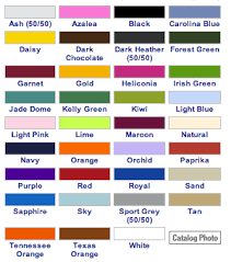 Gildan Color Chart 2019 77 Unexpected Gildan Dryblend T Shirt Color Chart