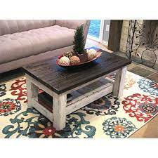 reclaimed white rustic coffee table
