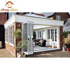 top quality europe hardware aluminum sliding folding door with grilled design