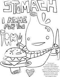 Small Picture Stomach Coloring Page I Heart Guts