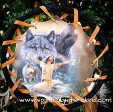 native american dreamcatcher wolf. Plain Dreamcatcher Native American Wolf Medium Goddess 3 Ring Dreamcatcher  For I