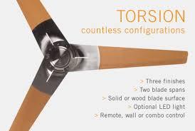 torsion ceiling fan. modern fan company torsion ceiling