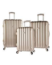 Light Luggage Sets Kensie 3 Piece Alma Light Metallic Style Spinner Luggage Set